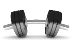 Isolating dumbbell Stock Image