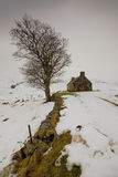 Isolation. Old shepherds house at Loch Loyal near Tongue in Scotland Stock Photos