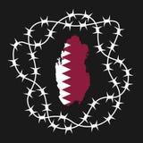 Isolation and blockade of Qatar Royalty Free Stock Images