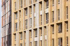 Isolation externe de mur Rénovation de mur de maison de rendement énergétique pour l'économie d'énergie photo libre de droits