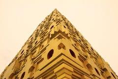 Isolation for golden temple in Sangkhlaburi Stock Photo