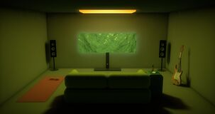 Isolation at Home/Comfortable Room/ Illustration 3D