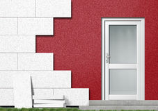 Isolation of a House Front Stock Photo