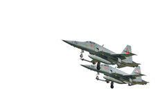 Isolation of jet fighters Royalty Free Stock Photos