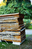 Isolation material. Stacked old isolation material royalty free stock photo