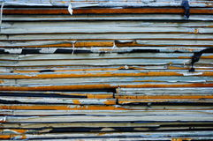 Isolation material. Stacked old isolation material royalty free stock photos