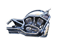 Isolation of a motorcycle engine. On white background Royalty Free Stock Photo