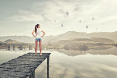 In isolation with nature Royalty Free Stock Image