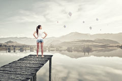 In isolation with nature Stock Images