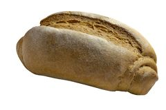Isolation, pain entier frais de grain d'?l?ment de conception d'isolement sur le fond blanc images stock