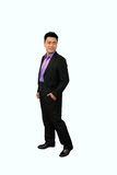 Isolation photo of Chinese man in suite Stock Images