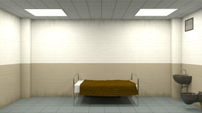 Isolation room. 3D CG rendering of a isolation room stock images