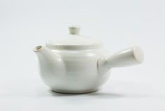 Isolation teapot and glass Royalty Free Stock Image