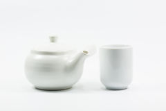 Isolation teapot and glass Royalty Free Stock Photo