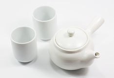 Isolation teapot and glass Stock Images