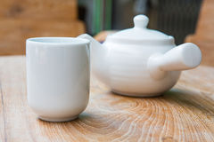 Isolation teapot and glass Stock Photos