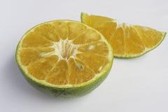 Isolato arancio Fotografia Stock