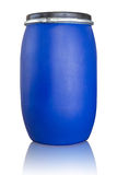 Isolato blu del tamburo su bianco con il percorso di ritaglio Fotografie Stock Libere da Diritti