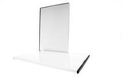 Isolato - caso in bianco DVD/CD Fotografia Stock