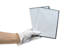 Isolato - caso in bianco DVD/CD Immagini Stock Libere da Diritti