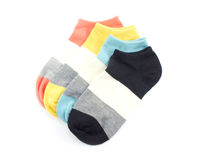 Isolato colorato dei calzini su fondo bianco Immagini Stock Libere da Diritti
