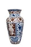 Isolato con il bello vaso tailandese di stile. Fotografia Stock