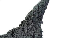 Isolato conico della roccia vulcanica su fondo bianco fotografia stock libera da diritti