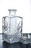 Isolato a cristallo della caraffa su bianco con il percorso di ritaglio immagine stock libera da diritti