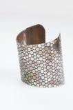 Isolato d'acciaio del braccialetto Fotografia Stock
