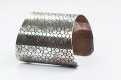 Isolato d'acciaio del braccialetto Fotografie Stock