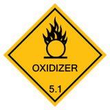 Isolato d'avvertimento del segno di simbolo del Oxidizer su fondo bianco, illustrazione ENV di vettore 10 royalty illustrazione gratis