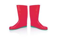 Isolato degli stivali di gomma Fotografie Stock Libere da Diritti