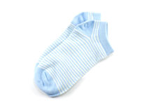 Isolato dei calzini della banda blu su fondo bianco Fotografie Stock Libere da Diritti