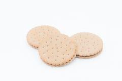 Isolato del biscotto del panino Fotografie Stock Libere da Diritti