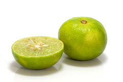 Isolato del limone su fondo bianco Fotografia Stock