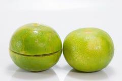Isolato del limone su fondo bianco Fotografie Stock Libere da Diritti