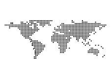 Isolato del punto della mappa di mondo di vettore Illustrazione Fotografia Stock