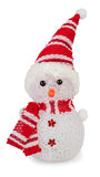 Isolato del pupazzo di neve del giocattolo Fotografia Stock