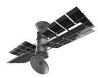 Isolato del satellite di telecomunicazioni, percorso di ritaglio Fotografie Stock Libere da Diritti