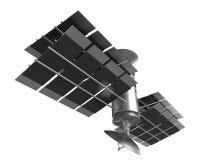 Isolato del satellite di telecomunicazioni, percorso di ritaglio Fotografie Stock