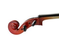 Isolato del violino su fondo bianco Immagini Stock Libere da Diritti