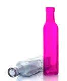 Isolato della bottiglia di vetro Fotografia Stock Libera da Diritti