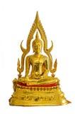 Isolato della statua del Buddha su priorità bassa bianca Fotografia Stock