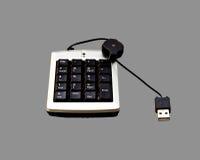 Isolato della tastiera numerica di USB su Gray di 50% Fotografia Stock Libera da Diritti