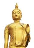 Isolato di Buddha della pelle della crepa su bianco Fotografia Stock Libera da Diritti