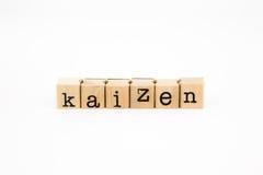Isolato di espressione di Kaizen su fondo bianco Fotografie Stock