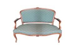 Isolato di legno intagliato classico del sofà su bianco illustrazione di stock