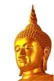 Isolato dorato piacevole del fronte del Buddha Fotografia Stock