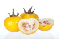 Isolato giallo della melanzana su fondo bianco Fotografie Stock