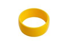 Isolato giallo variopinto del braccialetto sul bianco. Fotografie Stock Libere da Diritti